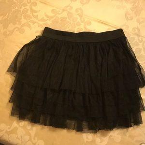 Moa Moa Girls Size XL Black Lace Mini Skirt